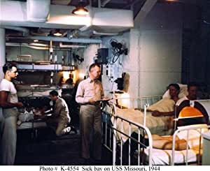 vintage us navy battleship uss missouri sick bay 1944 wwii ww2 photo. Black Bedroom Furniture Sets. Home Design Ideas