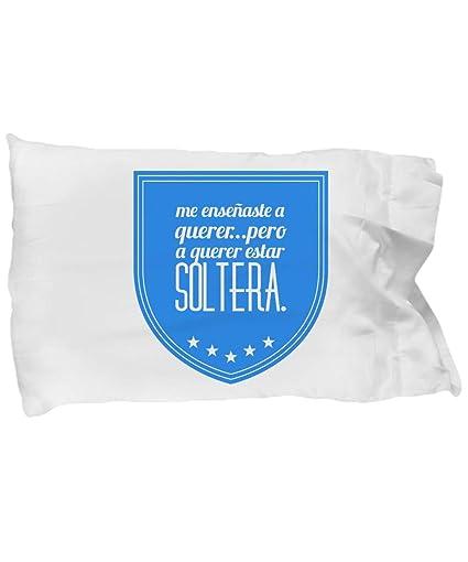 Amazon.com: almohada personalizada Soltera funda de almohada ...