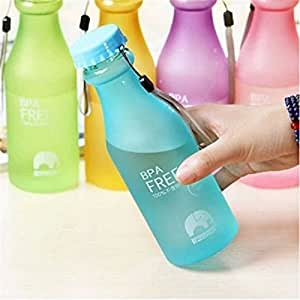 Filtración de-prueba de portátil de viaje irrompible botella de agua de ciclismo para Camping Sports taza-al azar Color