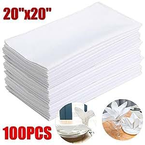 go2buy BEST DEAL 100 COTTON WEDDING RESTAURANT DINNER CLOTH NAPKINS 20X20