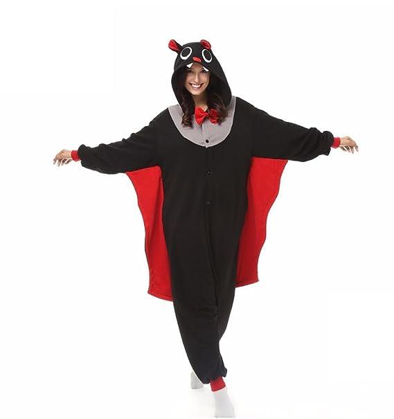 WRH Kigurumi Pijamas Bat Leotard/Onesie / Zapatillas Víspera de Todos los Santos Animal Pijamas