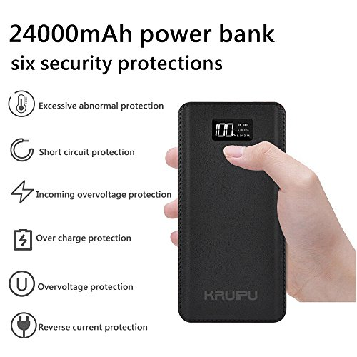 Power Bank 24000mAh Portable Charger Battery Pack 4 OutPut Ports Huge Capacity Backup Battery Compatible Smart Phone Almost All Android Phone And Others by KENRUIPU (Image #8)