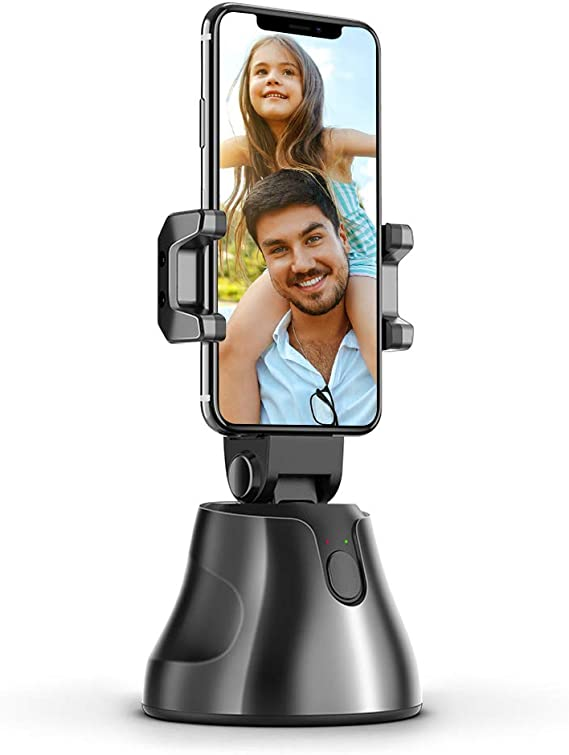 Selfie Stick Gimbal Stabilizer for Smartphone,360/°Rotation Auto Face/&Object Tracking Smart Shooting Camera Phone Mount,Men Women Selfie Mount