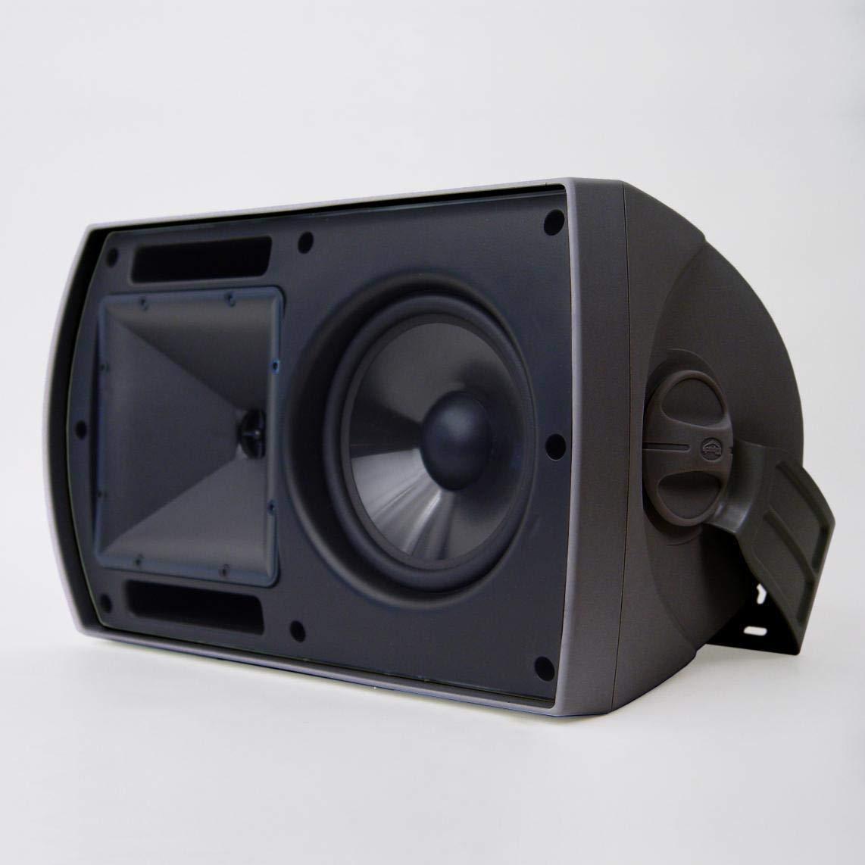 Klipsch AW-650  Indoor/Outdoor Speaker - Black (Pair) (Renewed) by Klipsch