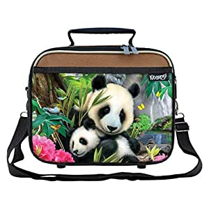 Precious Pandas School Lunchbox for Girls, Boys, Kids (Brown)