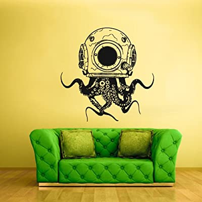 Large Big Wall Vinyl Sticker Decals Decor Jellyfish Octopus Deep Sea Ocean Fish Scuba Tentacles (Z2318)