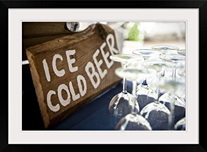 GreatBIGCanvas Ice Cold Beer Sign and Drinking Glasses