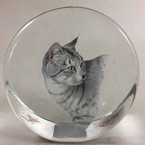Paperweight Circle - Stand Up/Recessed/Crystal - Mosser USA - Rosso Exclusive (Cat 5) - Exclusive Cat