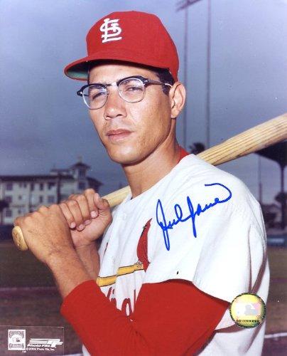 (Julian Javier Autographed/ Original Signed 8x10 Color Photo Showing Him with the St. Louis Cardinals (Pose 2))