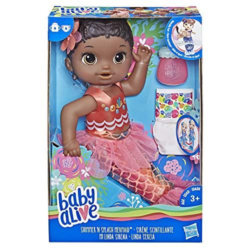 Baby Alive Shimmer 'n Splash Mermaid (Black Hair)]()