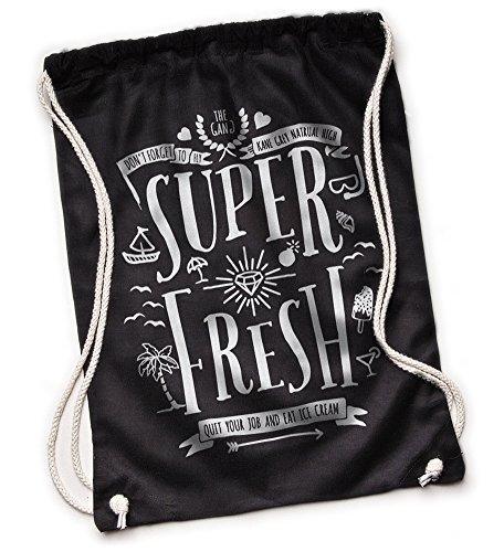 Kane Grey Kane Grey - Super Fresh - Bio Turnbeutel aus Segeltuch - Bolso mochila  de Lona para mujer talla única negro