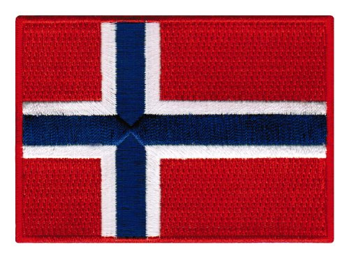 Patch Flag Norway (Norway Flag Embroidered Patch Norwegian Iron-On National Emblem)