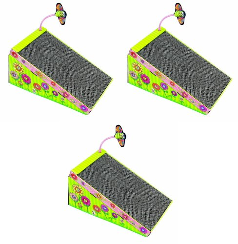 cratch 'n Play Ramp for Cats with Catnip 3pk ()