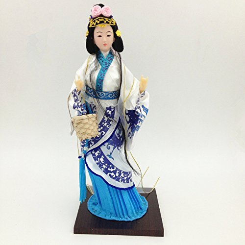 NW Chinese Traditional Handicraft Silk Figurine Collectible Chinese Doll Silk Doll - Collectible Chinese Doll