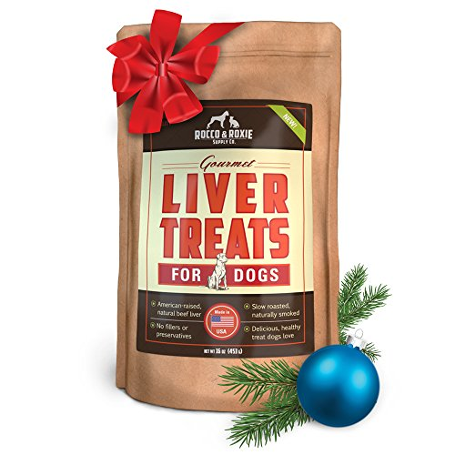 Whole Basted (Rocco & Roxie Supply Liver Treats, Gourmel for Dogs, 16)