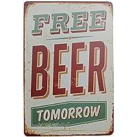 MagiDeal Vintage Metal Tin Sign Plaque Wall Art Poster Sheet Cafe Bar Pub Beer 08