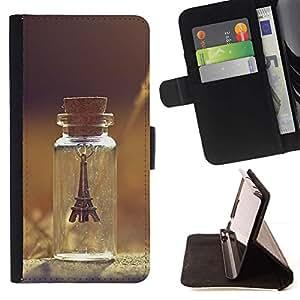 Momo Phone Case / Flip Funda de Cuero Case Cover - París Torre Verano triste Pretty - Samsung Galaxy A5 ( A5000 ) 2014 Version