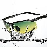 NIGHTVIEW® サングラス メンズ 偏光 昼夜兼用 夜間運転・夜釣り・ナイトドライビング・ナイトウォーキング用スポーツ サングラス UVカット高機能眼鏡 ケース付