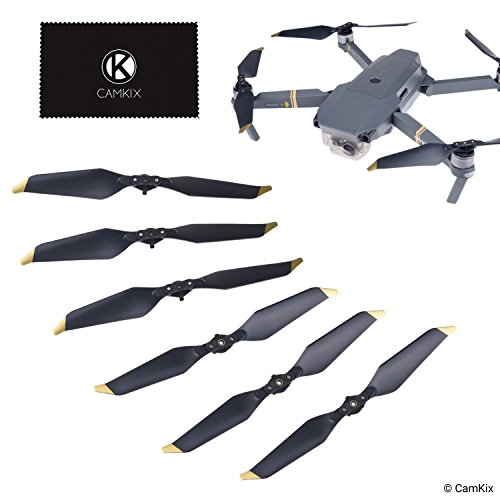 CamKix Propellers Replacement for DJI Mavic Pro/Platinum - 6 Blades - Low Noise - Quick Release Foldable Wings - Flight Tested Design - Essential Accessor