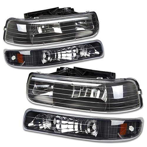 (DNA Motoring HL-OH-CS99-4P-BK-AB Headlight Assembly, Driver and Passenger)