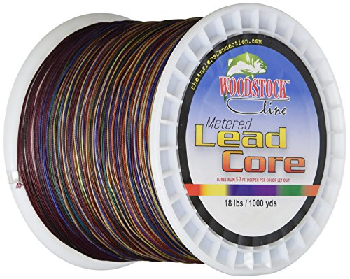 Woodstock 18 pounds metered lead core fishing line for Lead core fishing line