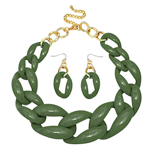 Geometric Green Necklace - 7