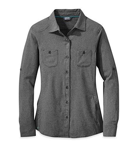 Outdoor Research Women's Reflection L/S Shirt, Charcoal, Medium