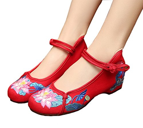 AvaCostume Womens Embroidery Summer Sandals