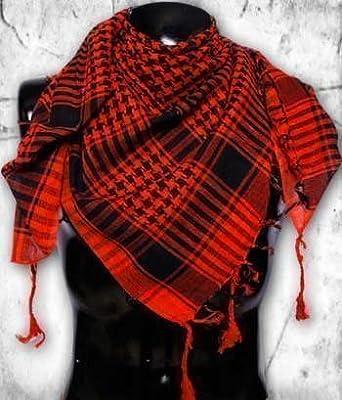 Checkered Shemagh - Arab Scarf / Kafiya: Black & Red: Amazon.co.uk ...