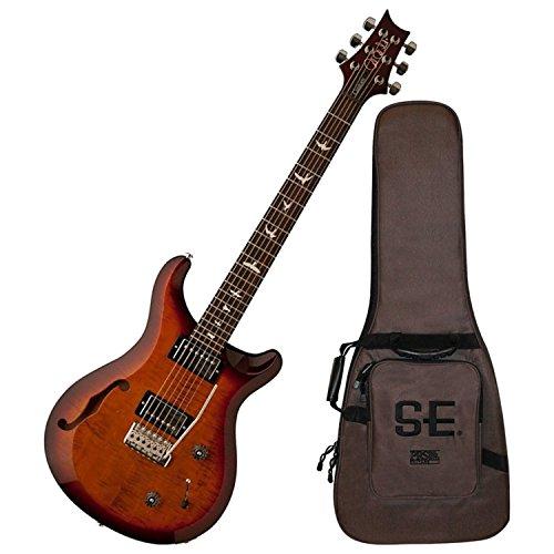 PRS S2 Custom 22 Semi-Hollow Electric Guitar Dark Cherry Sunburst -