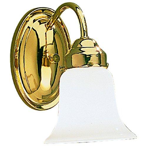 Kichler Polished Brass Wall Mt Bath 1 Light Incandescent 6121PB ()