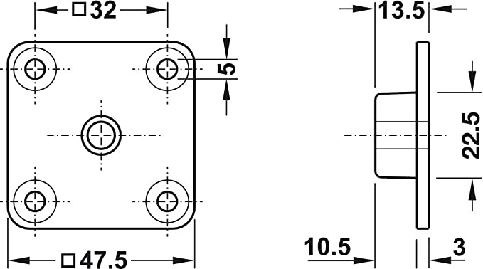 4x Platte eckig M8 4x GedoTec Tornillo de ajuste muebles fijaci/ón para Patas Galvanizado con acero giratorio 500 kg Capacidad carga Rosca M8 o M10 Calidad marca su Sala estar