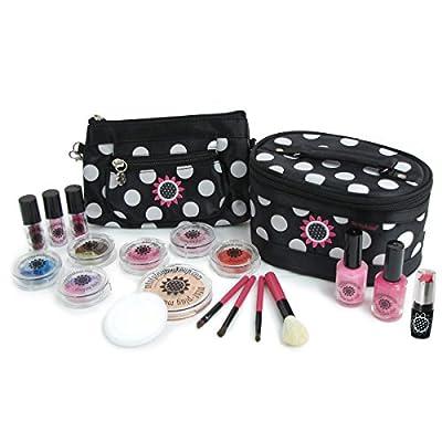 Mini Play Pretend Makeup: Super Deluxe Pretend Cosmetics Kit - Classic Black