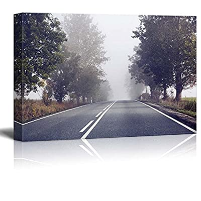 it is good, Dazzling Work of Art, Beautiful Scenery Landscape Empty Road on a Foggy Morning Wall Decor