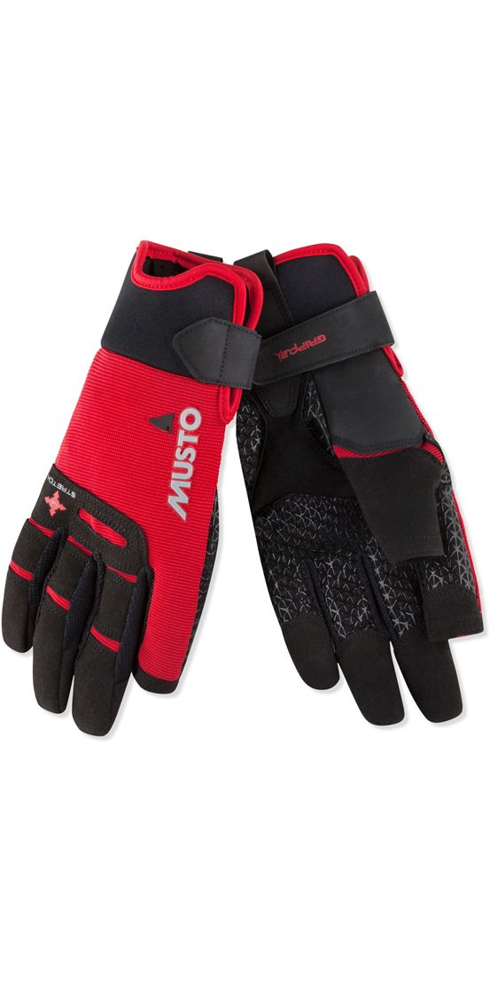 Musto Performance Long Finger Sailing Gloves - 2018 - Red M by Musto