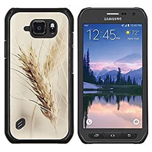 Stuss Case / Funda Carcasa protectora - Rye Crop campos Vignette Agricultura otoño - Samsung Galaxy S6 Active G890A