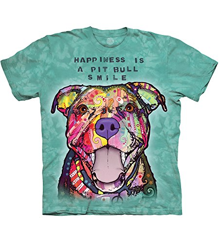 The Mountain Pit Bull Smile Adult T-Shirt, Teal, -