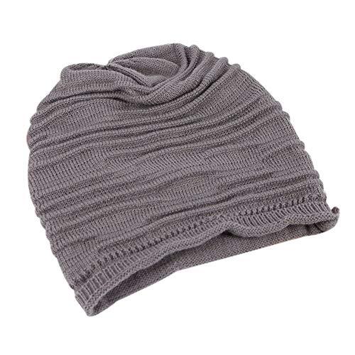 NEEKEY Unisex Men Women Winter Hat Baggy Beanie Knit Crochet Ski Slouch Cap DG(Free Size,Darkgray) ()