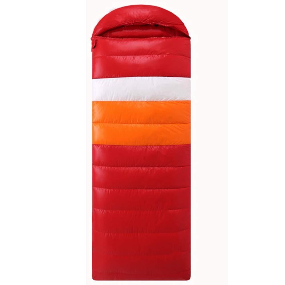 2,5 kg TQBE Sac De Couchage en Plein Air en Duvet d'oie éPaississeHommest éTudiant IntéRieur Pause DéJeuner Super LéGer ImperméAble vers Le Bas De Camping