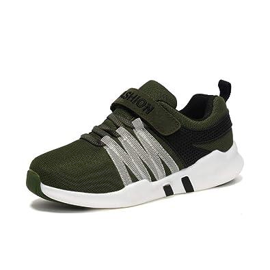 31da9ffd2878ac Unpowlink Kinder Schuhe Sportschuhe Ultraleicht Atmungsaktiv Turnschuhe  Klettverschluss Low-Top Sneakers Laufen Schuhe Laufschuhe für