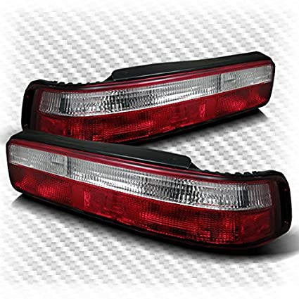 Amazoncom For Acura Integra Door Red Clear Tail Lights - 90 93 acura integra for sale