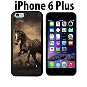Vintage Antique Horse Painting Custom made Case/Cover/skin FOR iPhone 6 Plus - Black - Rubber Case ( Ship From CA) by runtopwell