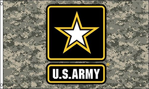 (3x5 US Army Star (Camo) Flag Lot of 2 Flags Super Polyester Nylon Flag 3'x5' House Banner 90cm x 150cm Grommets Double Stitched Premium Quality Indoor Outdoor Pole Pennant)