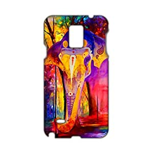 Evil-Store Oil painting colorful elephant 3D Phone Case for Samsung Galaxy Note4