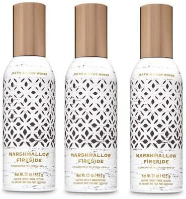 Bath and Body Works 3 Pack Marshmallow Fireside Room Spray 1.5 Oz.