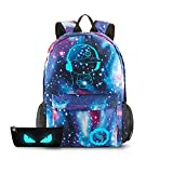 School Backpack Cool Luminous School Bag Unisex Galaxy Laptop Bag with...
