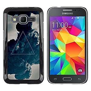 TopCaseStore / la caja del caucho duro de la cubierta de protección de la piel - Mystical Symbol Art Triangle Painting - Samsung Galaxy Core Prime SM-G360