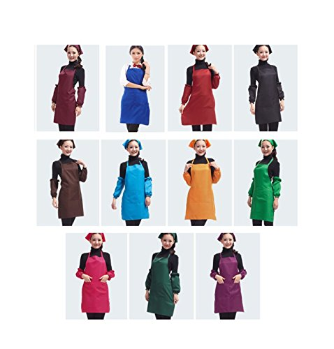 11 PCS Plain Color Bib Apron Adult Women Unisex Durable Comfortable with Front Pocket Washable For Cooking Baking Kitchen Restaurant crafting