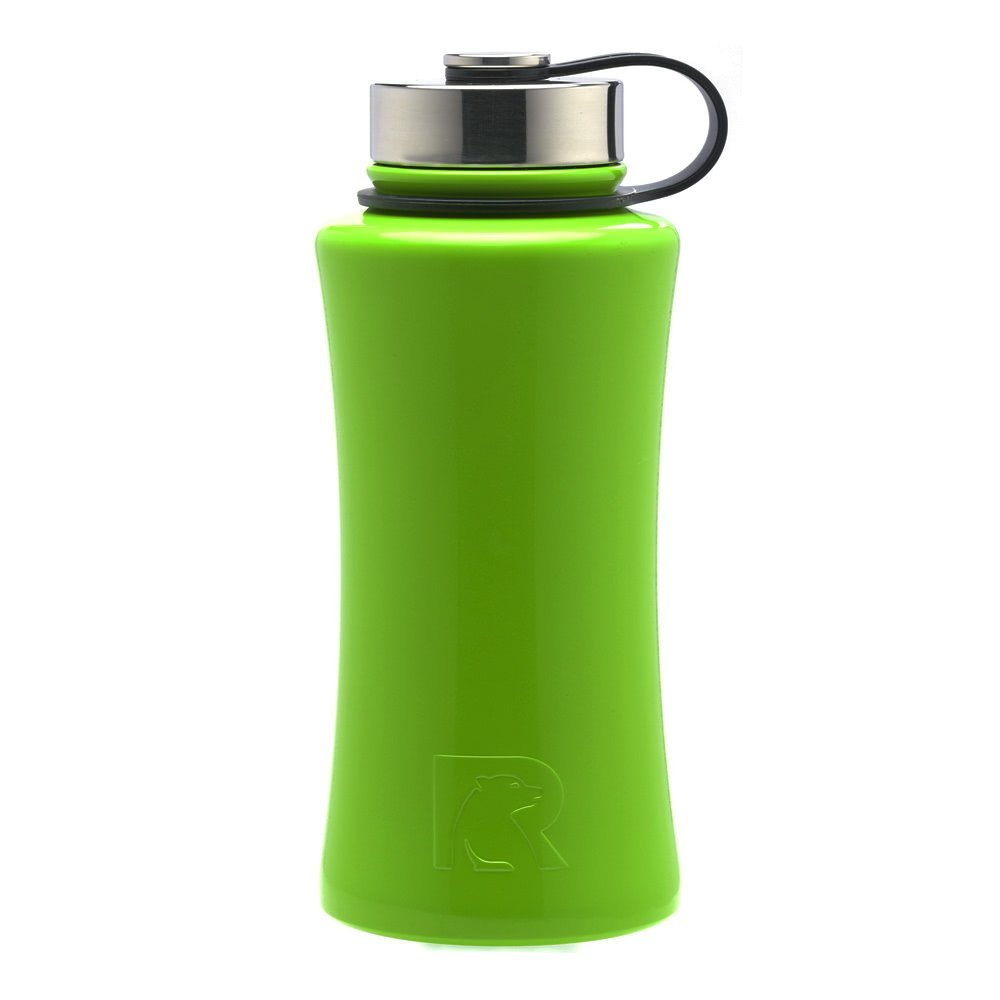 Black 18 oz RTIC 64 Double Wall Vacuum Insulated Bottle