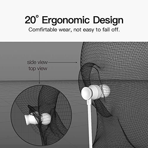 Earbuds, GGMM Headphones with Microphone Noise Isolating Headphones Earbuds Heavy Deep Bass Earphones Ear Buds, in Ear Headphones for iPhone Android Phone iPad Tablet Laptop (Black) by GGMM (Image #3)